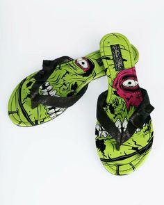 #Iron Fist Zombie Stomper Flip Flops