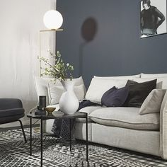 Kind of in love with this new color by 4477 Deco Blue // styling by talented Home Living Room, Modern Home Interior Design, Living Room Color, Home Decor, Deco Blue, Living Room Inspiration, Nordic Living Room, Home Interior Design, Home And Living