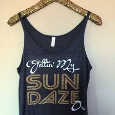 Gettin' My Sun Daze On- Slouchy Relaxed Fit Tank - Ruffles with Love -