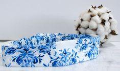 Blue Floral Farmhouse Headband