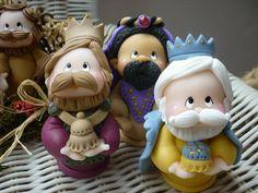 Figurines de los Reyes Magos en arcilla polimérica / polymer clay