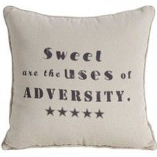 Large Typography Pillow - Sweet @ http://www.antiquefarmhouse.com/current-sale-events/chic-storage-solutions.html