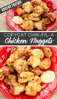 Copycat Chik Fil A Nuggets - The Rockstar Mommy Chick Fil A Nuggets, Chick Fil A Sauce, Chik Fil A Chicken, Chicken Bites, Family Fresh Meals, Easy Family Dinners, Family Recipes, Homemade Chicken Nuggets, Yummy Chicken Recipes