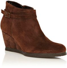 Shop for Strap Detail Wedge Boot by Oasis at ShopStyle. Wedge Ankle Boots, Wedge Heels, Winter Clothes, Winter Outfits, Popsugar, Suede Leather, Oasis, Wedges, Detail