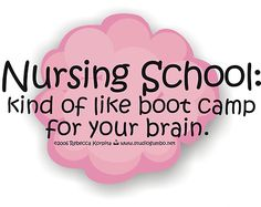 I think I rather be in Week 1 of BMT for 2 years than endure BSN for another 3 semesters at times! My brain hurts!