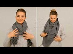 Jak zawiązać szalik? - oto 6 najprostszych sposobów - YouTube Youtube, Womens Fashion, Erika, Style, Scarves, Scarf Tieing, Swag, Women's Fashion, Woman Fashion