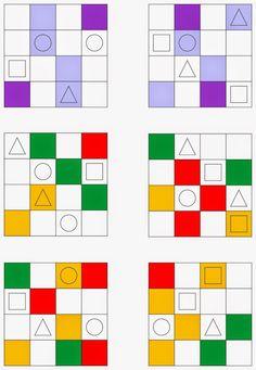 keine neue Übungsform,   aber die Kinder machen es immer wieder gerne   und es trainiert sowohl die visuelle Wahrnehmung   als auch die Mo...