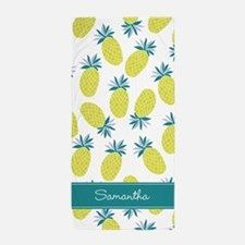 Cool Pineapples Pattern Beach Towel for