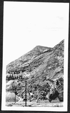VINTAGE PHOTOGRAPH 1924 RAILROAD CAR SCENIC MINE SILVER PLUME COLORADO OLD PHOTO