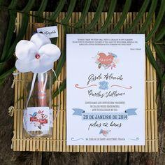 Convite Para Casamento Na Garrafa