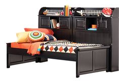 Shop for a Mission Black 5 Pc Full Bookcase Daybed at Rooms To Go Kids. Find  that will look great in your home and complement the rest of your furniture.