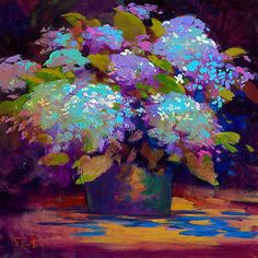 Simon Bull Art - Welcome to the Official Website of Artist Simon Bull Art Floral, Abstract Flowers, Watercolor Flowers, Hydrangea Painting, Vision Art, Fruit Art, Pastel Art, Lovers Art, Painting Inspiration