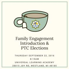 Dear ULA Families  You are invited to attend a series of professional development programs at Universal Learning Academy during the 2016-2017 school year! Our professional development programs are geared toward bridging the gap between school and our families. Our aim is to increase your awareness of school life and increase your childs academics and overall school experience.  We are pleased to invite you to our family engagement presentation the presentation will highlight the importance…