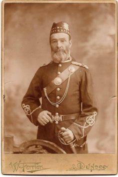 "John ""Provost"" Jack (1832 - 1907) in his Forfarshire Volunteers uniforn, photo taken in 1890s"