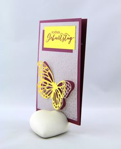 Geburtstag - Schmetterlingsgruß -  ein Designerstück von StempelLeo bei DaWanda