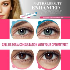 Enhance your eyes natural colour and beauty  (403)271-2818 bonaeye@telusplanet.net Natural Beauty, Lenses, Colour, Color, Raw Beauty, Colors