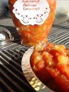 İster meze ister yemek çok güzel bir konserve tarifim var, Közlenmiş Patlıcanlı Domatesli Konserve... Fish, Pisces
