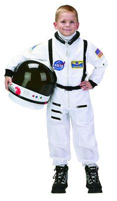 Child Astronaut Costume in White - Astronaut Costumes