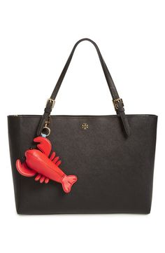 This nautical themed bag charm is absolutely lobsteriffic.