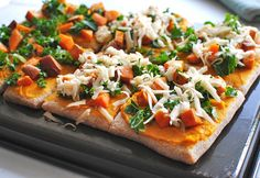 Roasted Butternut Squash Pizza. w/ step by step photos