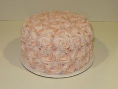 1st Birthday Frosted Rose Cake