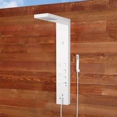 Albemarle+Thermostatic+Stainless$449, +Steel+Outdoor+Shower+Panel+with+Hand+Shower