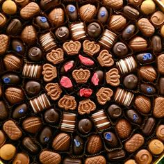 Best pattern in the world: chocolate! Image via Charbonnel et Walker * Real Pattern * The Inner Interiorista
