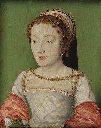 Renée de France, by Corneille de Lyon