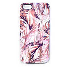 Nikki Strange - Pastel Paradise Palms Phone Case (760 CZK) ❤ liked on Polyvore featuring accessories, tech accessories and phone