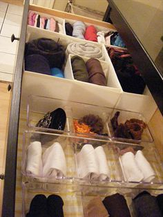 How to organize your sock/underwear drawer