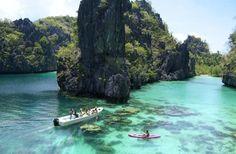 palawan the philippines! El-Nido-Miniloc-Island-Resort Palawan Philippines-Kayaking-at-the-Big-Lagoon Palawan Island, El Nido Palawan, Coron Palawan, Boracay Island, Les Philippines, Philippines Travel, Philippines Palawan, Places To Travel, Places To See