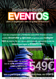 Campaña publicitario Curso Profesional Producción & Gestión de Eventos, edición April/13