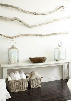 branches as wall decoration. via Bohemian Sense