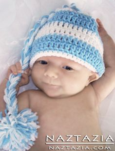 Crochet Baby Hat With Braid