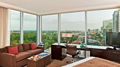 Select Loews Atlanta Hotel for your stay in Midtown and enjoy on-site spa, restaurant, and luxury accommodations at a top-rated hotel in Atlanta, GA. Atlanta Hotels, Five Star Hotel, Luxury Accommodation, Outdoor Furniture Sets, Outdoor Decor, City Chic, Hotel Reviews, Sweet Home, Places