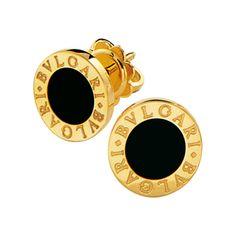Pendientes BVLGARI BVLGARI con cierre a presión en oro amarillo de 18 qt con ónix negro. Bvlgari Earrings, Bulgari Jewelry, Chanel Jewelry, Gemstone Jewelry, Stud Earrings, Bvlgari Rose Gold Ring, Louboutin Shoes Price, Pink Louboutins, Gucci Soho