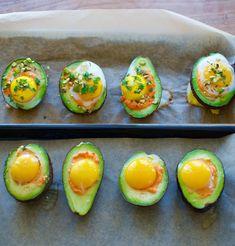 Dreamy baked avocados