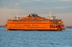 Staten Island Ferry - for a free night cruise!