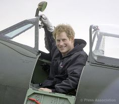 Prince Harry at the Flight Academy