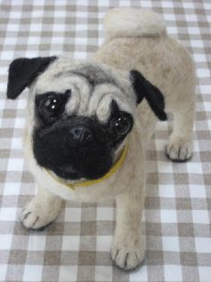 Felted Pug from http://www.midofelt.com/