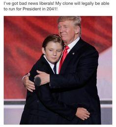 Barron & President Trump