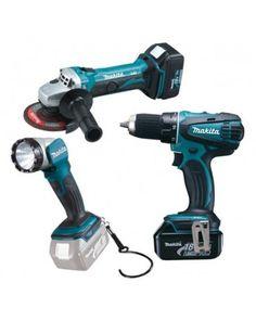 DLX 3010 Δραπανοκατσάβιδο DDF456D (18V) + γωνιακό τροχό DGA452D (18V) + φακό LED DML802D (18V) + 2 μπαταρίες Li-ion (18V/3Ah) φορτιστή δίσκο λείανσης τσάντα μεταφοράς Drill, Led, Tools, Hole Punch, Instruments, Drills, Drill Press