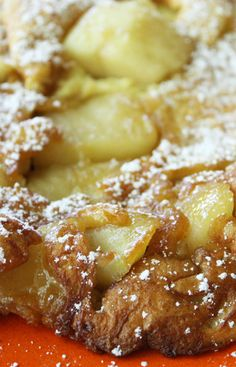 Caramelized Apple Pancakes || I have only used the caramelized apple portion of this -- they're great.