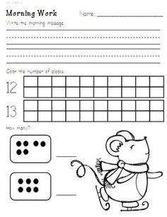 math worksheet : freebie kindergarten morning work letters phonics and ma  word  : Kindergarten Morning Worksheets