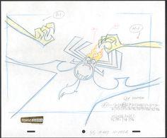 Samurai Jack Aku KEY Original Production cell drawing Cartoon Network COA Seal 2* by CharlesScottGallery on Etsy