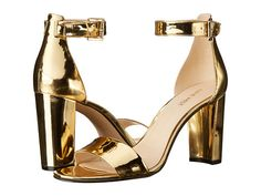 Nine West Nora Gold Synthetic - 6pm.com