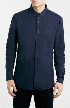 Topman Slim Fit Premium Cotton & Linen Shirt - Click the link for product details :)