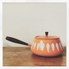 A personal favorite from my Etsy shop https://www.etsy.com/listing/261160403/cathrineholm-orange-fondue-pot