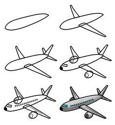 cartoon airplane A nice cartoon airplane is the subject of this simple drawing tutorial.A nice cartoon airplane is the subject of this simple drawing tutorial. Drawing Lessons For Kids, Art Lessons, Drawing Ideas, Children Drawing, Drawing Cartoon Characters, Cartoon Drawings, Funny Drawings, Doodle Drawings, Easy Drawings