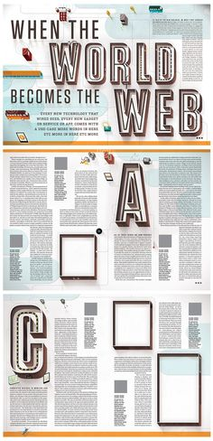 Layout Kelli Anderson - The Internet of Things Weird Words, More Words, New Words, Editorial Layout, Editorial Design, Kelli Anderson, Disruptive Technology, Magazine Layout Design, Magazine Spreads